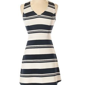 NWOT Abercrombie Navy and White Stripe Dress